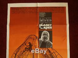 Planet of The Apes 1968 Original 27x41 Movie Poster Charlton Heston