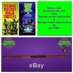 Production usedscreen used, bo staff used by Leif Tilden in original Tmnt movie