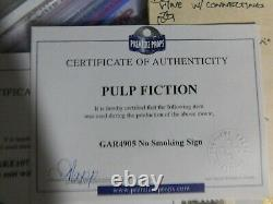 Pulp fiction pond shop movie prop metal No Smoking sign CoA red Apple Cigarettes