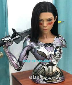 Queen Studios Alita Battle Angel Bust 1/1 Scale Life size Resin EX Ver Original