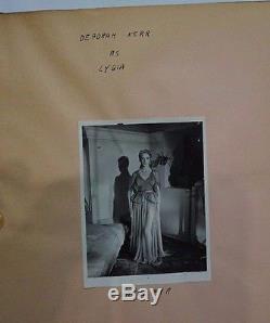 Quo Vadis 1951 Movie Memorabilia Wardrobe Original Photo Binder Deborah Kerr