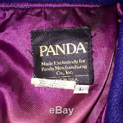 RARE EDDIE MURPHY WORN Leather Wool Silk Movie Panda Jacket Varsity