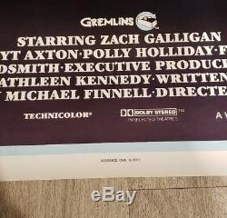 RARE ROLLED! ORIGINAL GREMLINS Movie Poster 1984 Spielberg One Sheet 27x41
