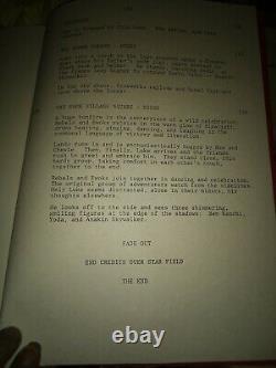 RARE Star Wars Revenge Of The Jedi Rare Original Script 2nd Draft Dec 19, 1982