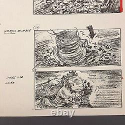 RETURN OF THE JEDI Production Used Storyboard Luke vs. Rancor (9)