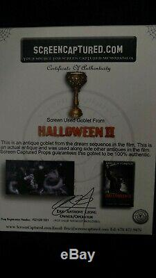 ROB ZOMBIE'S HALLOWEEN II SCREEN USED Antique Goblet Prop W COA Michael Myers