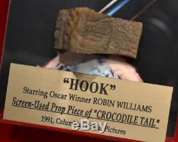 ROBIN WILLIAMS HOOK Croc PROP Skin, Premiere Props COA, UACC RD#228 DVD, Frame