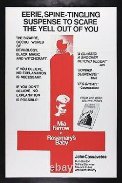 ROSEMARY'S BABY CineMasterpieces ORIGINAL HORROR MOVIE POSTER 1968 RARE STYLE