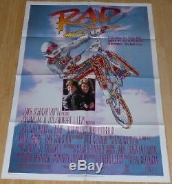 Rad 1986 Original 1 Sheet Movie Poster Lori Loughlin Bmx Bikes