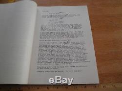 Raiders of the Lost Ark Vintage movie script ORIGINAL Lucasfilm