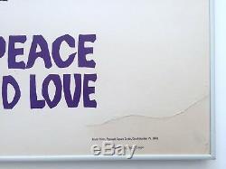Rare 1969 Original Woodstock Arnold Skolnick Iconic Framed Concert Movie Poster