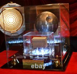 Rare DEATH STAR Screen-Used PROP STAR WARS IV, COA London Props, DVD Lit CASE