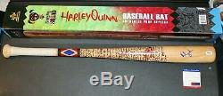 Rare Margot Robbie Signed Harley Quinn Noble Collection Baseball Bat PSA