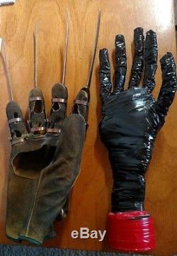 Real Prop Glove, Metal, Nightmare on Elm Street, Freddy, Stunt Worn, 1984, +Disp