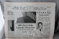 Resident Evil Apocalypse Newspaper Raccoon City Movie Prop Set Milla Jovovich