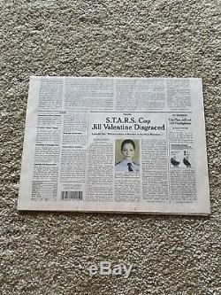 Resident Evil Apocalypse Newspaper Screen Used Prop COA Premier Props