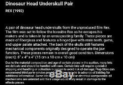 Rick Baker Studios Rex Small Mechanical Dinosaur Head Prop COA