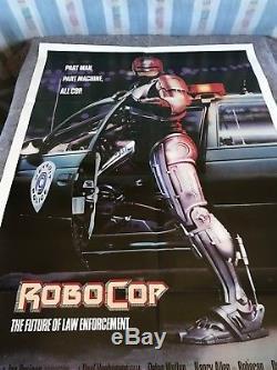 Robocop 1987 Original 1 Sheet Movie Poster 27 x 41 (VF) Peter Weller Sci-Fi
