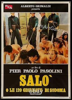 SALO Italian 39x55 poster Pier Paolo Pasolini Shocking Image! Filmartgallery