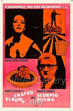 SCORPIO RISING/CHAFED ELBOWS Rare 1sh Kenneth Anger Robert Downey filmartgallery