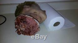 SCREEN USED SILICONE DECAPITATED HEAD. Super realistic horror movie prop