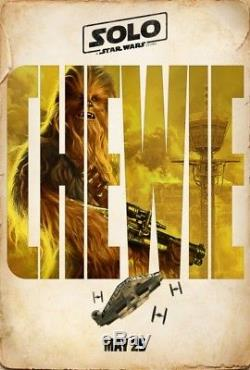 SOLO A STAR WARS STORY Original DS 27x40 Movie Poster CHARACTER SET of 6 TEASERS