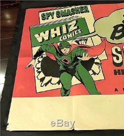 Spy Smasher Serial Whiz Comic Books Original Ultra Rare Special Poster 1942