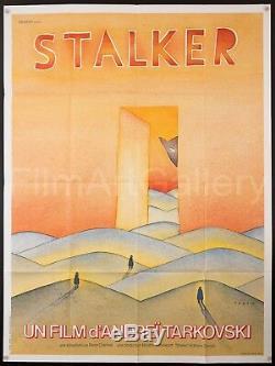 STALKER 1981 French 47x63 poster Andrei Tarkovsky Folon artwork Filmartgallery