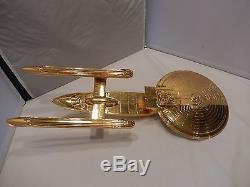 STAR TREK NEMESIS Movie Prop 24kt Gold Plated EXCELSIOR NCC-2000. John Eaves