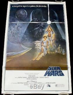 STAR WARS 1977 Original Movie Poster Style A TRI-FOLD FIRST PRINT NSS 77-21-0