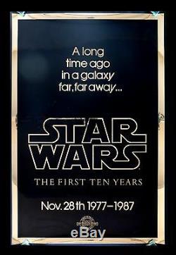 STAR WARS CineMasterpieces BRITISH TEASER GOLD ADVANCE MYLAR MOVIE POSTER