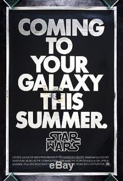 STAR WARS CineMasterpieces MYLAR ADVANCE UNUSED ORIGINAL MOVIE POSTER 1977
