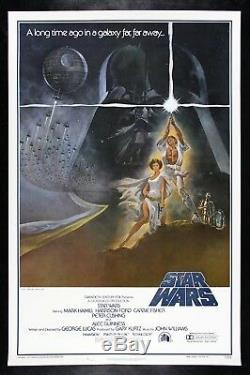 STAR WARS CineMasterpieces ORIGINAL 77/21-0 1ST PRINTING MOVIE POSTER 1977