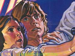 STAR WARS MOVIE POSTER STYLE D Folded 27x41 Original One Sheet 1977