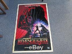 STAR WARS REVENGE OF THE JEDI Original 1983 27x41 dated Movie Poster, C 12 Pics