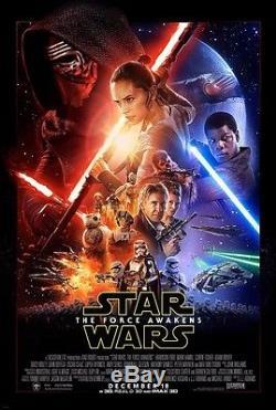 STAR WARS THE FORCE AWAKENS great ORIGINAL 27x40 movie poster