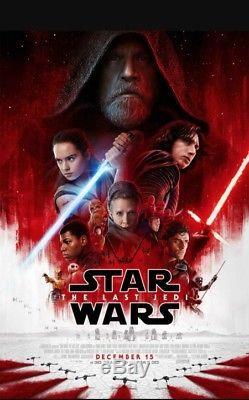 STAR WARS THE LAST JEDI Original DS 27x40 Movie Poster FINAL Mint