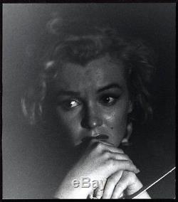 STRIKING 1953 Original Photo MARILYN MONROE IN FEAR by ANDRE de DIENES