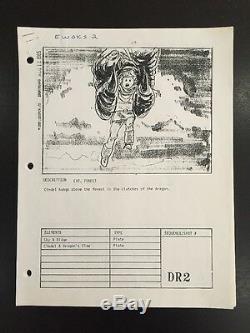 SUPER RARE! EWOKS BATTLE FOR ENDOR Original 1985 Movie Storyboards Star Wars