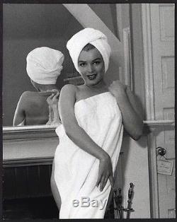 SUPERB 1953 Original Photo MARILYN MONROE NUDE with TOWEL by ANDRE de DIENES