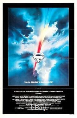 SUPERMAN 1978 Original 27x41 One Sheet Movie Poster Christopher Reeve M Kidder