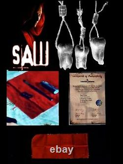 Saw III Amanda Shawnee Smith Screen Used Red Cloth Prop Coa Jigsaw Halloween