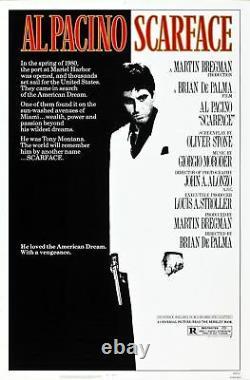 Scarface Near Mint Rolled Original 27x41 Movie Poster 1983 Al Pacino Loggia Nm