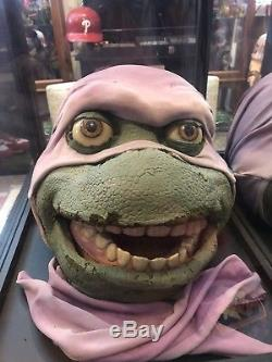 Screen Used Teenage Mutant Ninja Turtles Donatello Tmnt Head Move Prop NM