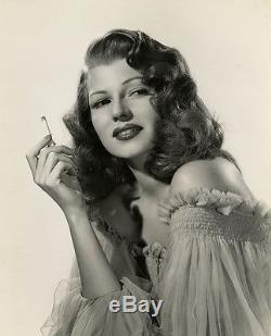Smoking Femme Fatale Rita Hayworth Vintage 1946 Robert Coburn Gilda Photograph