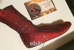 Spider-man 2 Movie Memorabilia Costume Piece Right Boot (2004) Original