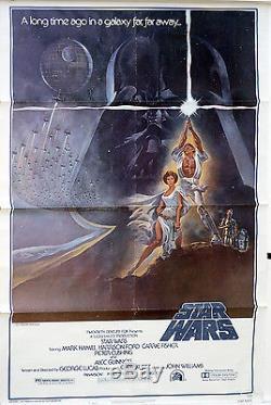 Star Wars 1 Sheet Movie Poster-Original US Release-Hildebrandt Art-1977-RITC