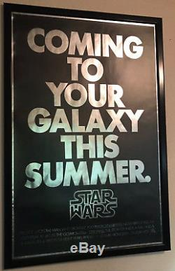 Star Wars 1977 Mylar Advance original Movie Poster in Frame