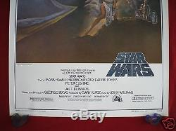 Star Wars 1977 Original Movie Poster 1sh Style A 77/21-0 First Printing Nm-m