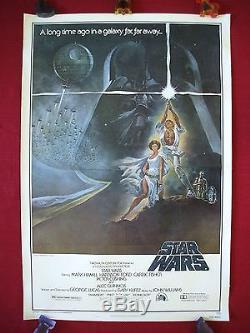 Star Wars 1977 Original Movie Poster Style A 1sh Authentic Vader The Last Jedi